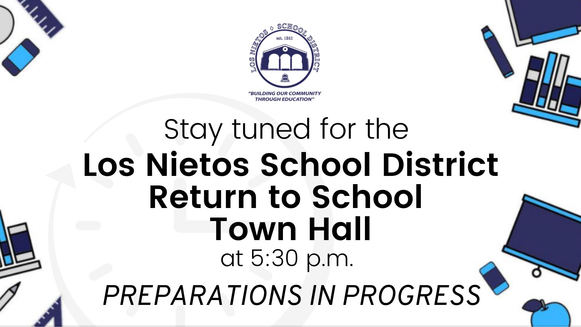Begins Shortly Return to School Town Hall (2)