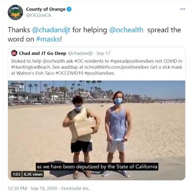 County of Orange Twitter Video Screenshot