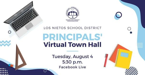 Graphic - Principals Virtual Town Hall