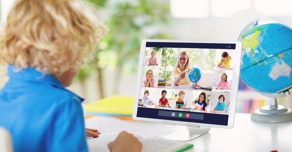 Photo of kindergarten Zoom class to spotlight Distance Learning success