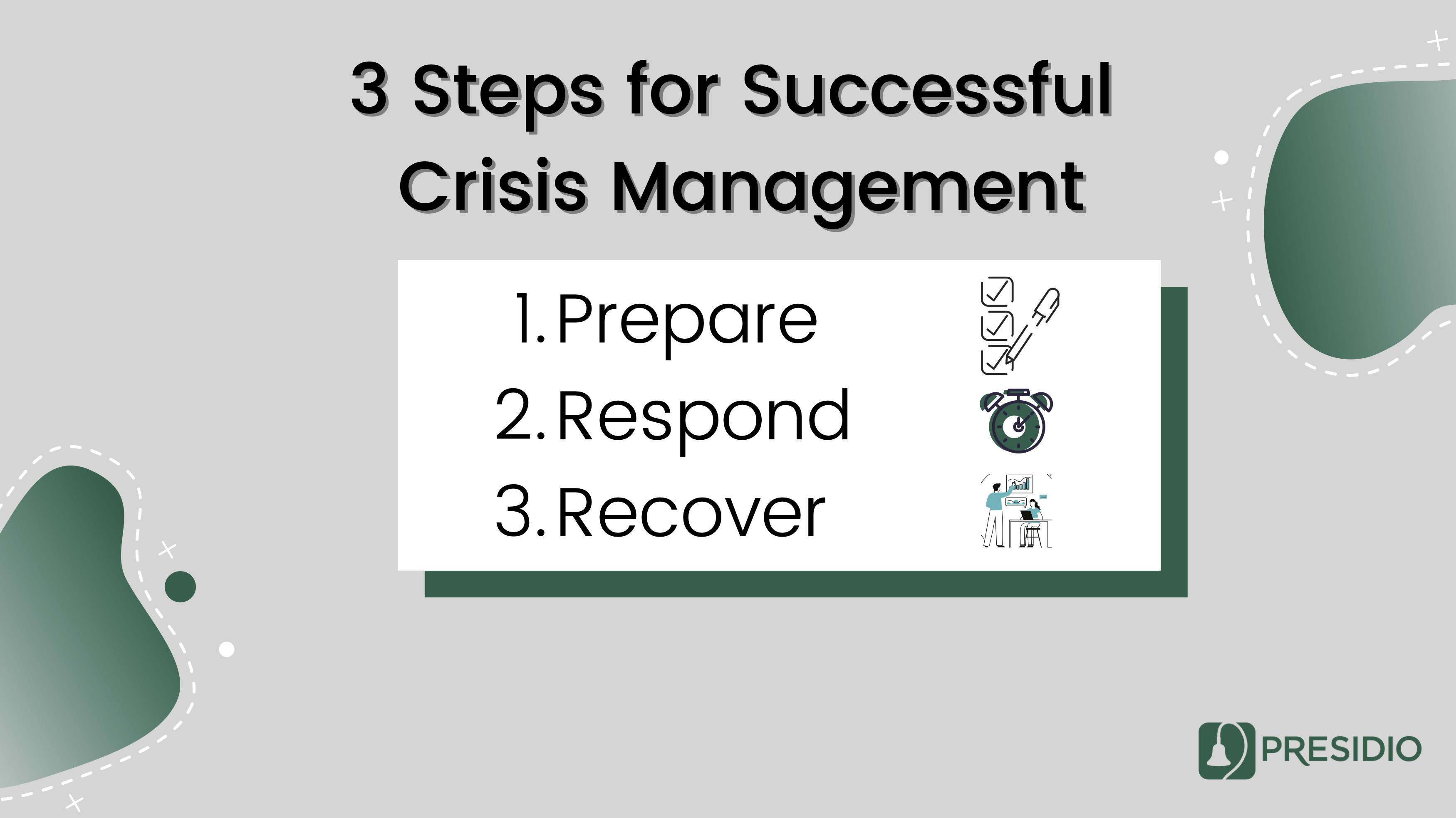 3 Steps for Successful Crisis Management